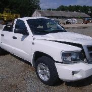 Dodge Dakota big horn pickup truck, V8 magnum, vehicle is consider total damage to hood and bed of truck, front hood in-