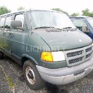 2001 Dodge Ram Cargo Van VIN: 2B7LB31231K520814. Meter indicates 42,070 miles. Powered by a gas engine. Equipped with