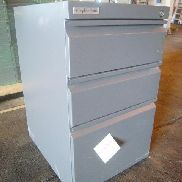 8 ea Wrighjt Line, file cabinets, 3 drawer, metal, dimensions: 19in X 15.25in X 25.5in, total weight estimated, GL will