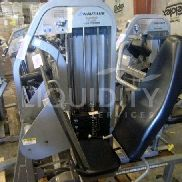 Nautilus Nitro Plus Leg Press machine, 480 lb of weights. Adjustable seat, seat fabric torn. Buyer Is Responsible For
