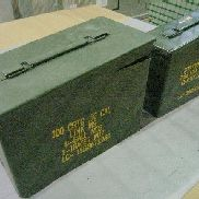 "140ea(Apprx) Ammo Cans to include: 105ea(Apprx) Ammo Can, 11"" L x 5.5"" W x 7"" H; 35ea Ammo Can, 10"" L x 3.5"" W x 7"" H"