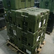 24 Pcs. Shipping and Storage Containers on 3 pallets to include but not limited to: 7 Ea. Transit Case, L:32in, W:20in,