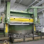 CNC Double Column Vertical Borer Stanko 1563 with Siemens Sinumerik 840D and livespindle. Modernised and retrofitted in 2005.
