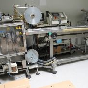 Siebler + Göring 90-2 horizontal four side seal packing machine for diagnostic tests and similar items.