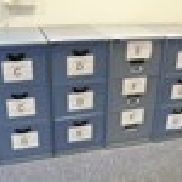 4 - Triumph Blue Steel 3 Drawer Filing Cabinets