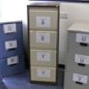 4 - Brown and Cream Steel 4 Drawer Filing Cabinets