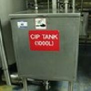 1 - Stainless Steel Square 1,000 Litre CIP Holding Tank