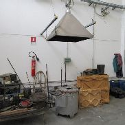 Gas fired oven and_x000D_ its hood