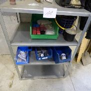 Pos-Nr .: 11 Storage shelf steel, 4 editions, w / o content Auction start: 20.11.2017 11:00:00 End of the auction from: 01.12.2017 11:00:00