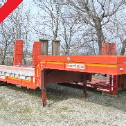 semitrailer bed trailer used Bertoja holes