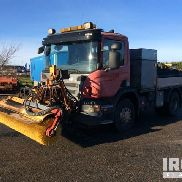 2006 Scania P310 4X2 Flatbed Truck W/Sweeper