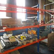 Heavy load rack consisting of: 3 stands approx. 110x240 / 280 cm and 6 traverses