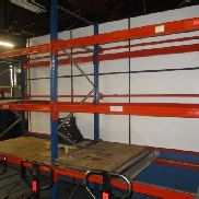 Heavy load rack consisting of: 3 stands approx. 110x280 cm