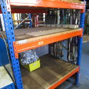 Heavy load rack consisting of: 2 stands approx. 110x200 cm and 3 crosspieces (without contents)