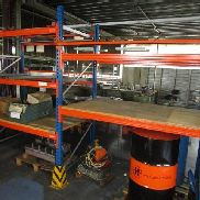 Heavy load rack consisting of: 3 stands approx. 110x240 / 280 cm and 5 traverses