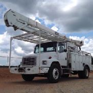 HiRanger Material Handling Bucket Truck rear mounted on 2004 Freightliner FL80 Utility Truck (118185)