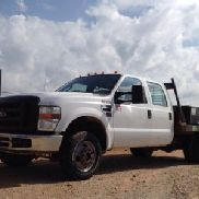 2008 Ford F350 4x4 Crew-Cab Flatbed Truck (119956)