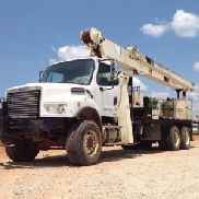 National Hydraulic Crane mounted behind cab on 2007 Freightliner M2-106 6X6 Flatbed Truck (120132)