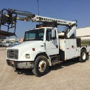 Telsta Telescopic Non-Insulated Cable Placing Bucket Truck rear mounted on 1999 Freightliner FL70 Utility Truck (123581)