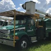Lift-All Over-Center Bucket Truck mounted behind cab on 2003 Sterling Acterra Chipper Dump Truck (123862)