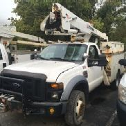 Terex Hi-Ranger Articulating & Telescopic Bucket Truck mounted behind cab on 2008 Ford F550 4x4 Service Truck (125799)