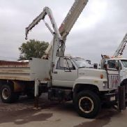 IMT Hydraulic Knuckle Boom Crane mounted behind cab on 1994 GMC Topkick Dump Truck (127420)