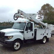Altec Articulating & Telescopic Bucket Truck mounted behind cab on 2012 International TerraStar Service Truck (127692)