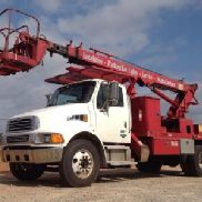 Elliott Telescopic Sign Crane rear mounted on 2003 Sterling Acterra Flatbed Truck (130827)