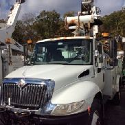 Altec Articulating & Telescopic Bucket Truck mounted behind cab on 2009 International 4300 DuraStar Utility Truck (59768)