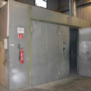 Painting booth-spraying box