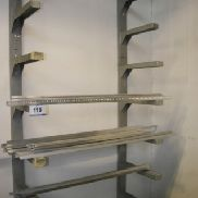 Cantilever rack with content