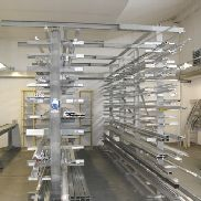 2 double-sided cantilever rack with contents