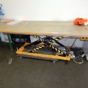Electro-hydraulic scissor lift table