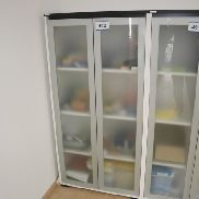 2-door file storage unit Palmberg with contents