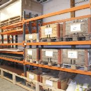 Heavy load pallet rack Allclick with contents