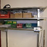 3-storey wall shelf, with contents