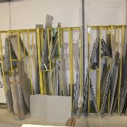 standing storage rack for sheet metal sections