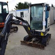 Terex mini excavator TC16 vintage 2014 series number TC00163126 timer 1303. Auction 509 # 0011
