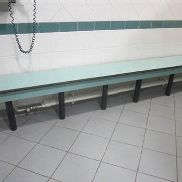 Four runs of bench seating comprising of: 1 x 3.3m / 1 x 4.2m / 1 x 'L' section 4.7m / 1 x 2.2m -