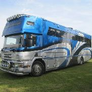 2005 Lehel Scania 18 ton luxury horse box lorry with 2 x slide / pop outs