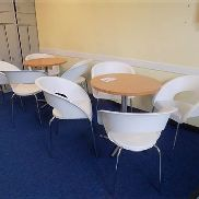 2 - Tornado canteen tables with 8 - chairs