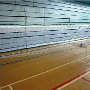 Pair of indoor five-a-side football goals and nets
