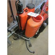2 x various back pack sprayers