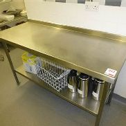 1500mm x 580mm 2 tier stainless steel food preparation table