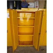 4, 1.8m high steel double door chemical storage cupboards