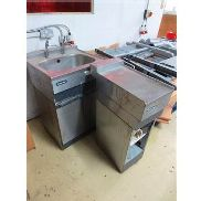 Stainless steel sink with undercounter storage and stainless steel preparation unit
