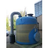 Forbes 2.6m dia x 2.5m high 7 tonne fibreglass salt saturator, s/n V81606/101 (2010) with filing
