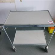 2 tier galvanised steel trolley
