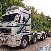 VOLVO FH 540 combi 20ft containers container chassis + container chassis trailer