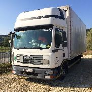 MAN TGL 8.180 tilt truck + curtain side trailer